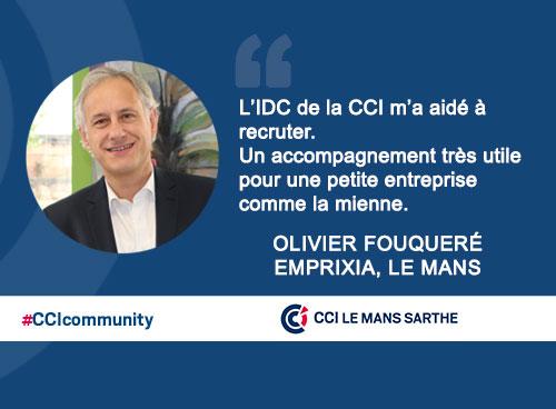 L'IDC de la CCI m'a aidé dans mon recrutement.