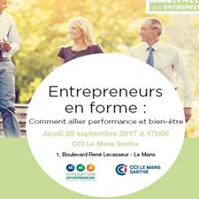 """Conférence """"Entrepreneurs en forme"""" : rendez-vous le 28 septembre à la CCI"""