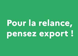 Plan de relance pour l'export